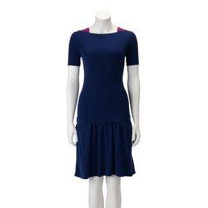 Chanel Blue Knit Drop Waist Dress
